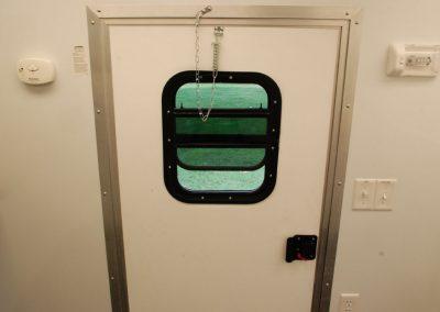 Door into trailer